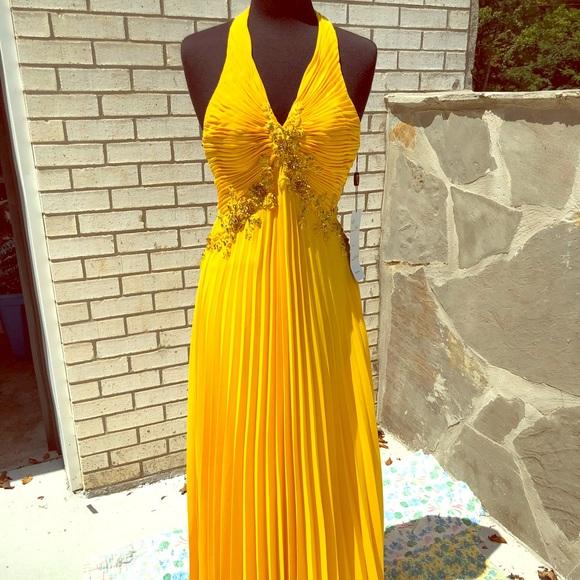 e3e6b335c4b Precious Formals Yellow Prom Pageant Dress 6